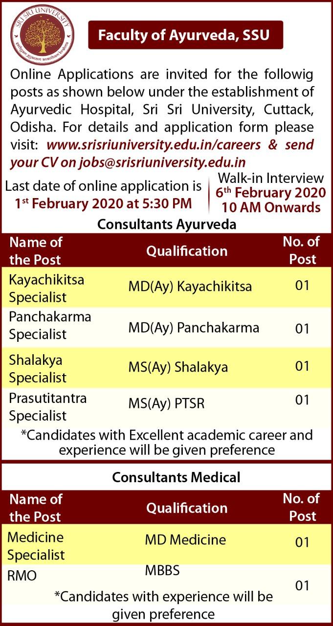 Ayurveda - Recruitment