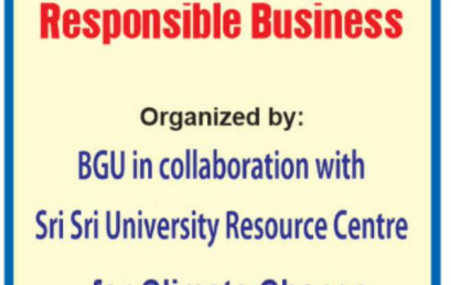 JANUARY 11th 2020 – WORKSHOP SERIES ON RESPONSIBLE BUSINESS