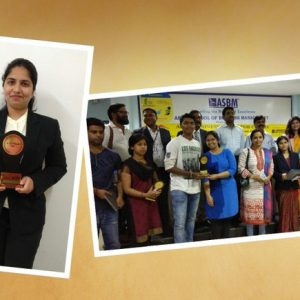 Shobhita Indrakanti-  Best Startup award-service from ASBM Business Incubator