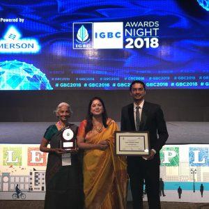 'Indian Green Building Council - Green Champion' National Award  2018