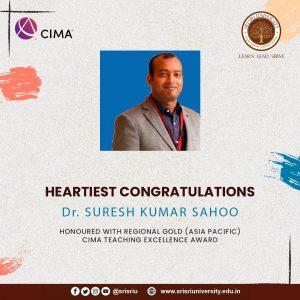 Dr.Suresh Kumar Sahoo-Regional Gold 2020 (Asia Pacific) Award