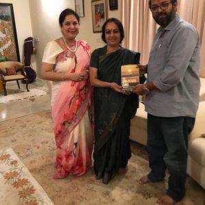 My book being  presented by  Bhanujgd  didi to PrinceArihan