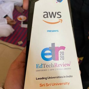 @SriSriU has been awarded as the leading University of India by Edtech Review 2020.