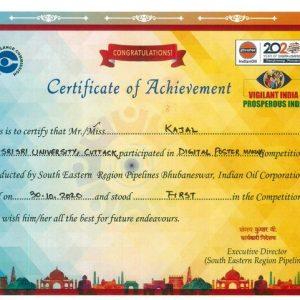 Kajal Panda - Secured First Position in Digital Poster making Competition